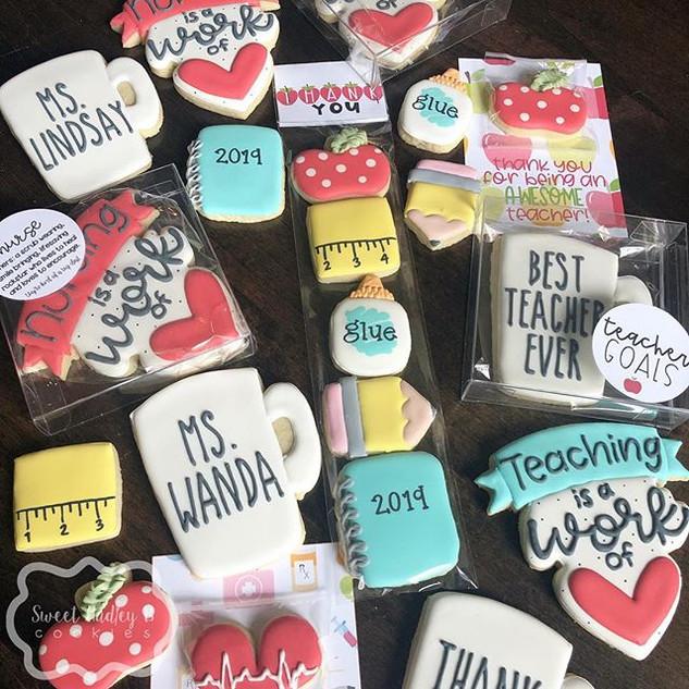 Teacher and nurse appreciation cookies a