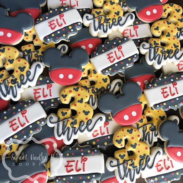 Mickey Mouse cookies for Eli's 3rd birth