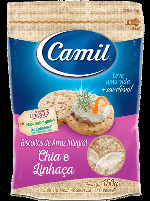 MINI BISCOITO DE ARROZ CAMIL CHIA 12X150GR