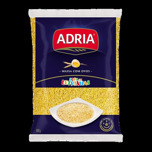 MASSA ADRIA COM OVOS SOPA DE LETRINHAS 20X500G