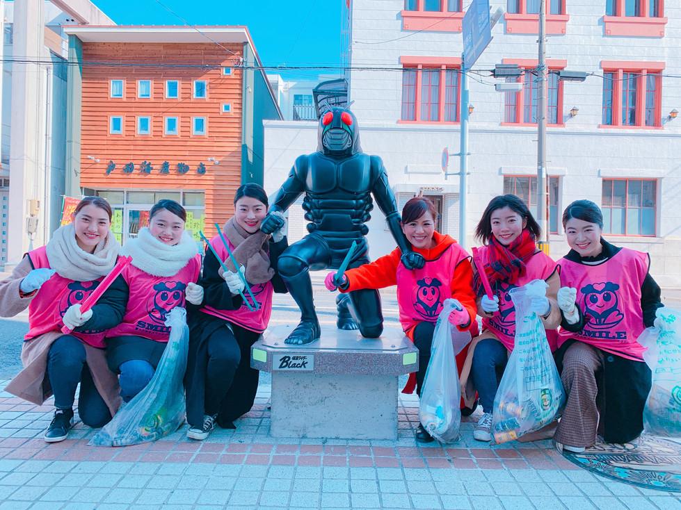 MYK 8期生 清掃活動で石巻応援