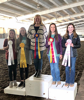 5 winners with ribbons