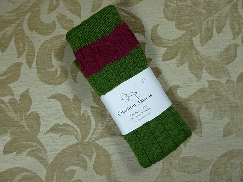 Moss/Mulberry Country Socks