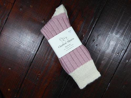 Pink/Natural Bed Socks