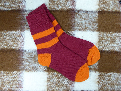 Mulberry/Orange Stripy
