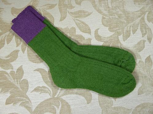 Moss/Damson Walking Socks