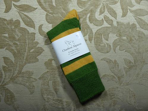 Moss Green/Gold Stripy