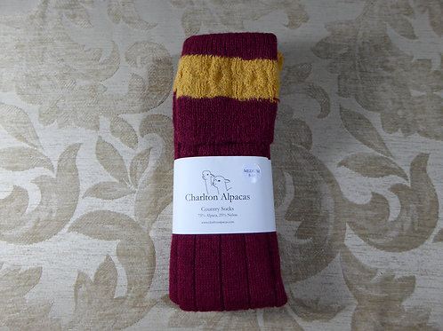 Mulberry/Gold Country Socks