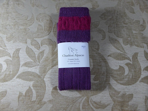 Damson/Rose Country Socks