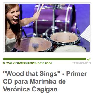 ¡Crowdfunding conseguido! Wood that Sings - CD de Veronica Cagigao