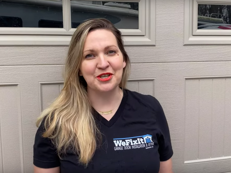 Garage service without contact, 10% off, and a video from co-owner Jen