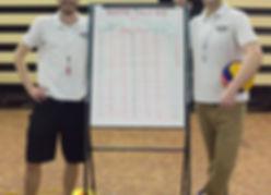 Referees Julien Lavoie & Mark Pannell
