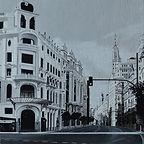 11 From Madrid to heaven. Acrylic on boa