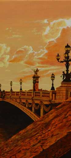 Sunset over the Seine.