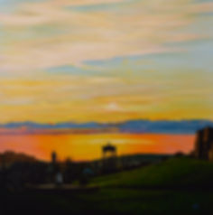 Nocte erit mollis. Acrylic on canvas  80