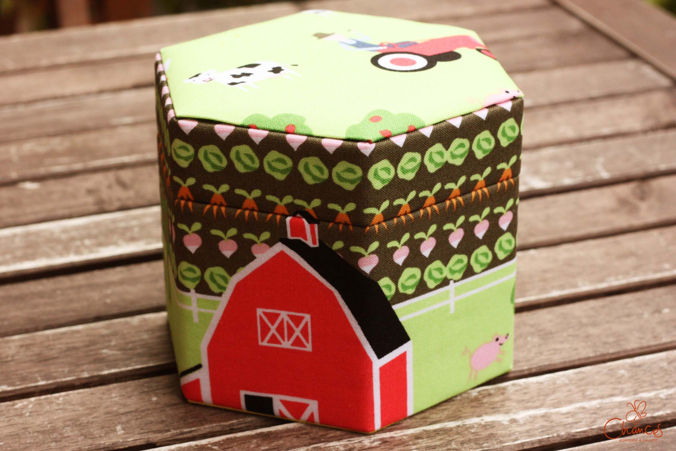 六角形のBOX(つきあわせフタ)