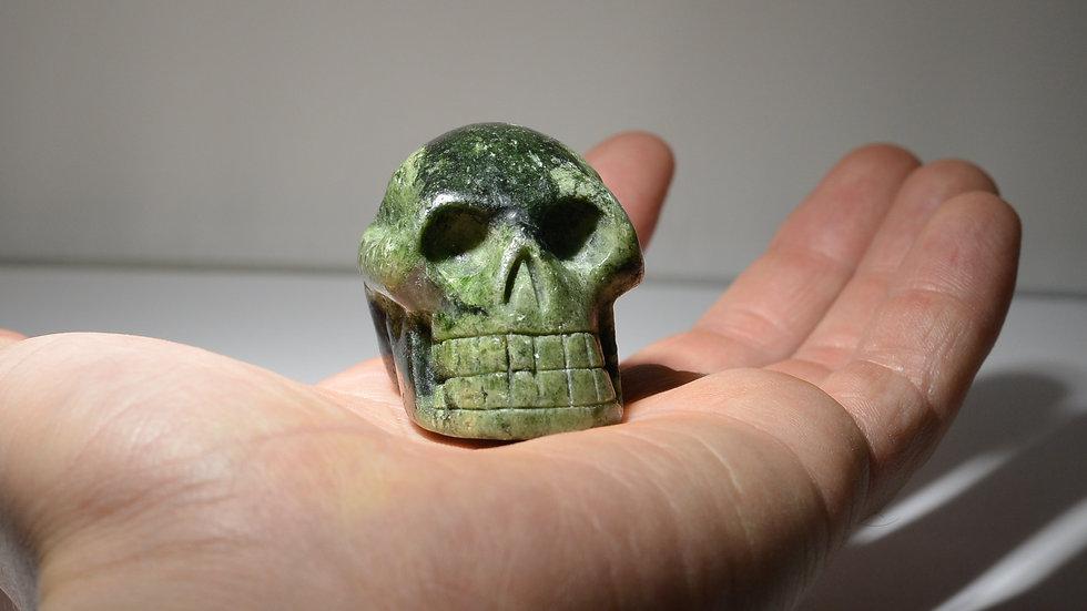 Epidote Skull