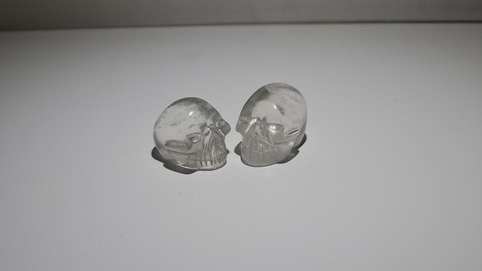 Small Clear Crystal skulls ($75 each)