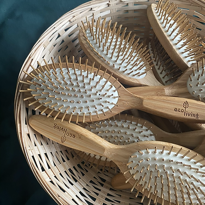 Bamboo Hairbrush with Wooden Pins