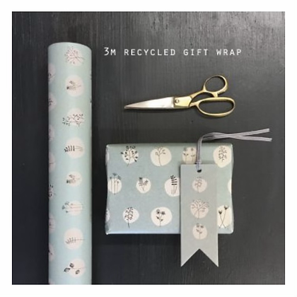 Blue Hedgerow Wrapping Paper - 3m