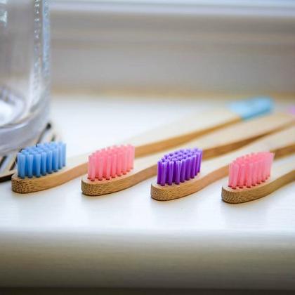 Children's Bamboo Toothbrush - 4 Pack