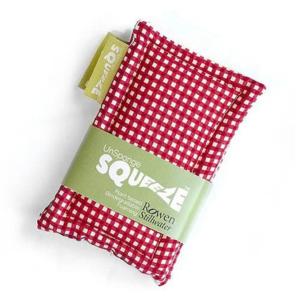 Squeeze™ Sponge in Red Gingham