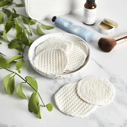 100% Cotton Reusable Make Up Rounds
