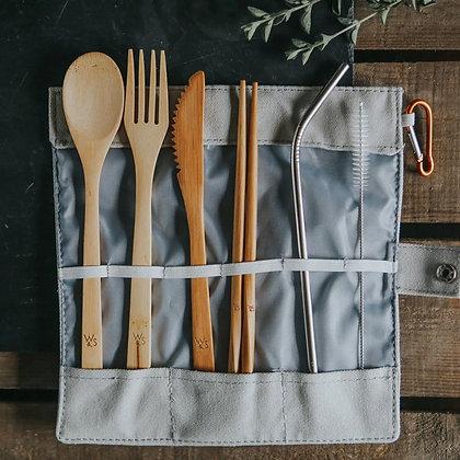 Bamboo Cutlery Picnic Set