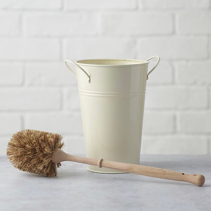 Plastic Free Toilet Brush & Holder Set - Smaller Brush