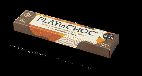 JustChoc Box Organic Peruvian Cacao M•lk Chocolate 30g