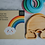 Thumbnail: Baby Bamboo Weaning Suction Section Plate - Over The Rainbow