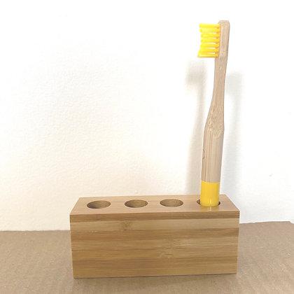 Bamboo Toothbrush Holder - Family