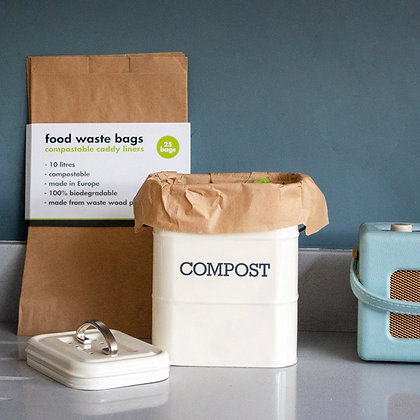 Compostable Food Waste Paper Bags - 25 pk