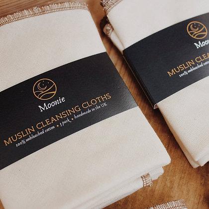 Muslin Cleansing Cloths - 3 pk