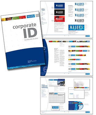 Mason's Travel corporate ID design by Roland Henrion