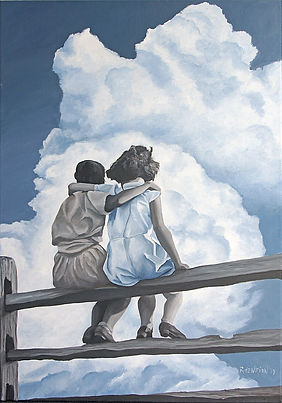 """""""Friends for life"""" Painting by Roland Henrion"""