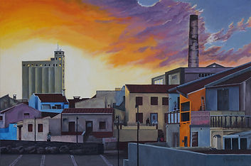 """Sunset over Lagoa, Azores"" Painting by Roland Henrion"