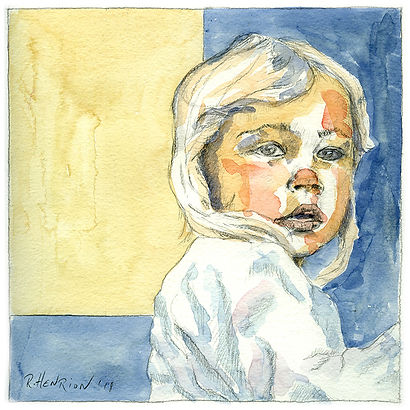 """""""Giulia"""" Watercolor by Roland Henrion"""