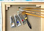 Winsor & Newton expert paint and pure linen canvas