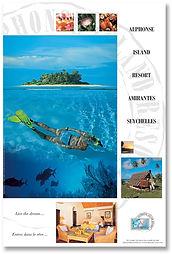 Poster for Alphonse Island Resort design by Roland Henrion