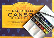 Canson Heritage paper and Winsor & Newton fine water colors