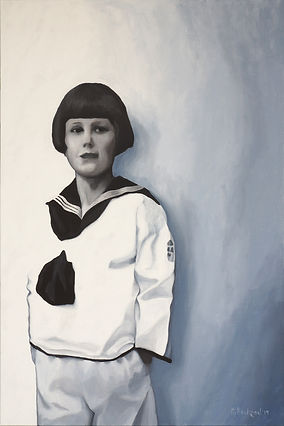 """""""Boy in sailor suit"""" Painting by Roland Henrion"""