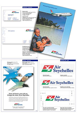 Air Seychelles corporate ID design by Roland Henrion