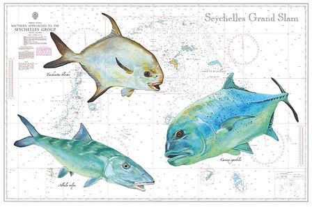 """""""Seychelles Grand Slam"""" painting by Roland Henrion"""