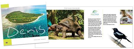 Brochure for Denis Island design by Roland Henrion