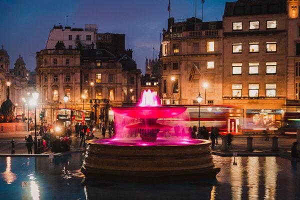 Lights at Trafalgar Square