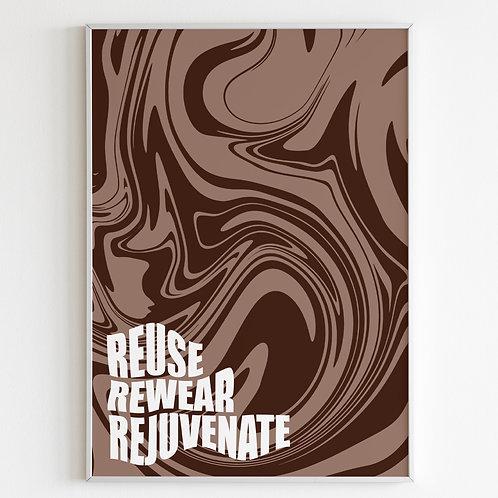 Reuse, Rewear, Rejuvenate - Mocha Swirl