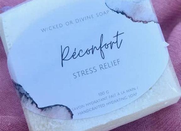 Savon fait à la main à la fragrance de réconfort