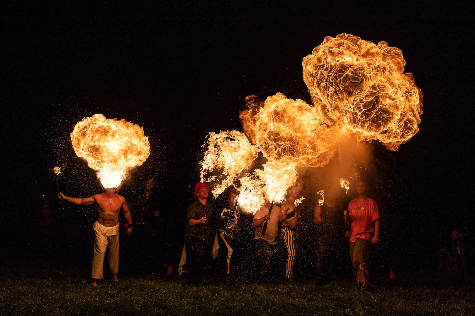 Fire breathers for hire