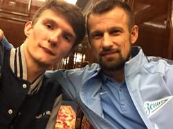 Даниил Анастасьин и Сергей Семак